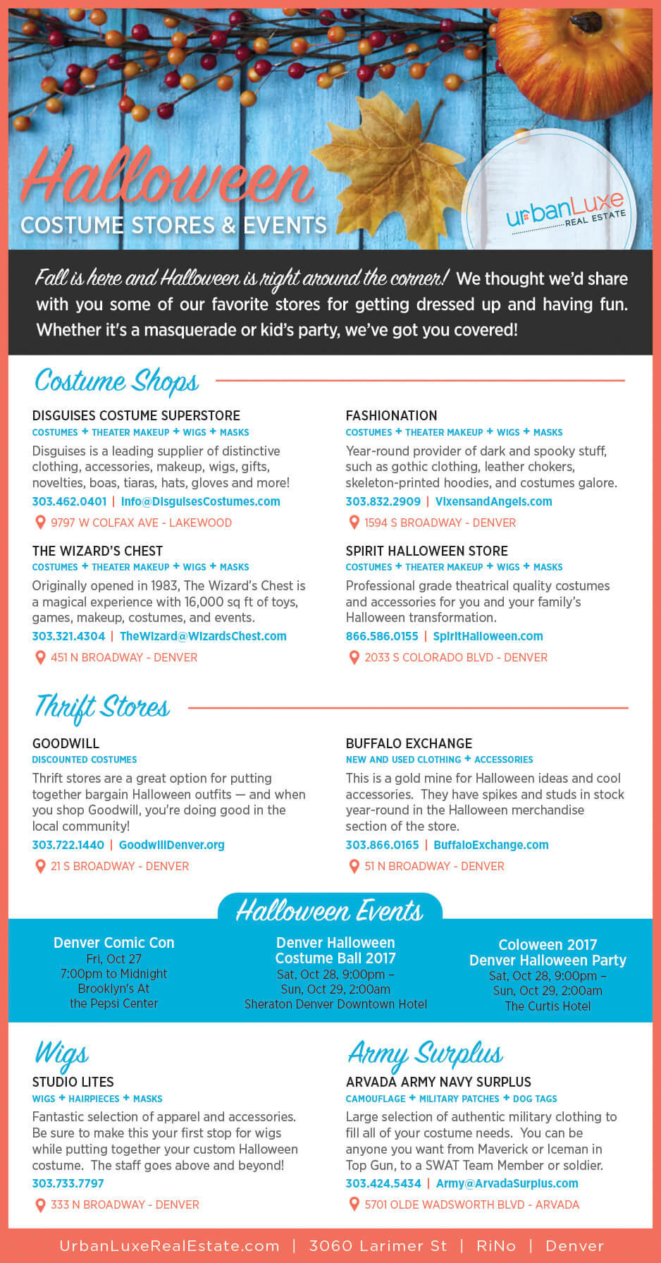halloween costume stores events
